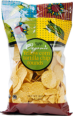 Trader Joe's Organic Yellow Corn Tortilla Chip Rounds