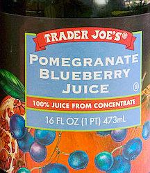 Trader Joe's Pomegranate Blueberry Juice