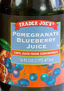 Trader Joe's Pomegranate Blueberry Juice