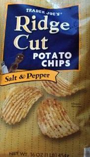 Trader Joe's Salt & Pepper Ridge Cut Potato Chips