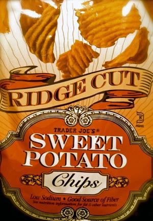 Trader Joe's Ridge Cut Sweet Potato Potato Chips