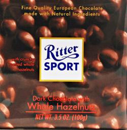 Trader Joe's Ritter Sport Dark Chocolate with Hazelnut