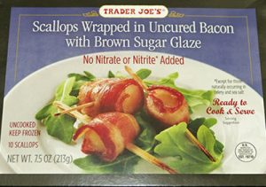 Trader Joe's Scallops Wrapped in Bacon with Brown Sugar Glaze