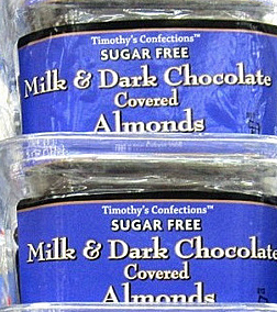 Trader Joe's Sugar-Free Milk & Dark Chocolate Covered Almonds