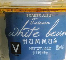Trader Joe's Tuscan White Bean Hummus
