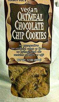 Trader Joe's Vegan Oatmeal Chocolate Chip Cookies