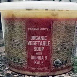 Trader Joe's Organic Vegetable Soup with Quinoa & Kale