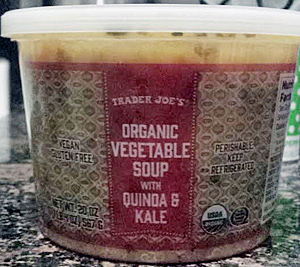 Trader Joe's Organic Vegetable Soup with Quinoa & Kale