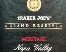 Trader Joe's Grand Reserve Meritage Napa Valley