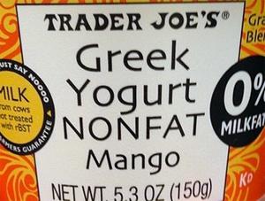 Trader Joe's Nonfat Mango Greek Yogurt