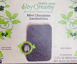 Trader Joe's Soy Creamy Mini Chocolate Ice Cream Sandwiches