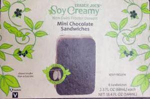 Trader Joe's Soy Creamy Mini Chocolate Ice Cream Sandwiches