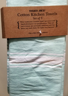 Trader Joe's Blue Kitchen Towels