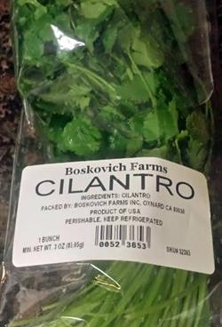Trader Joe's Boskovich Farms Cilantro