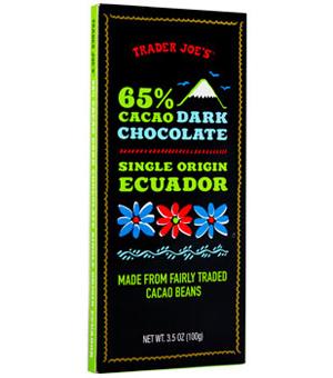 Trader Joe's 65% Cacao Ecuador Dark Chocolate