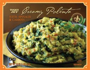 Trader Joe's Creamy Polenta with Spinach & Carrots
