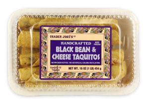 Trader Joe's Black Bean & Cheese Taquitos