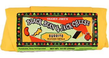 Trader Joe's Black Bean & Jack Cheese Burrito