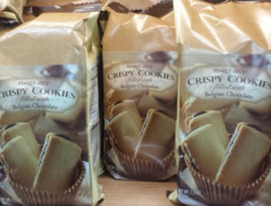 Trader Joe's Crispy Cookies Filled With Belgium Chocolate