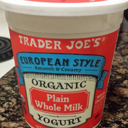 Trader Joe's European-Style Organic Plain Whole Milk Yogurt
