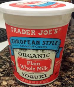 Trader Joe's European-Style Organic Plain Whole Milk Yogurt