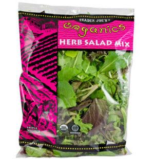 Trader Joe's Organic Herb Salad Mix