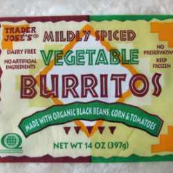 Trader Joe's Vegetable Burritos