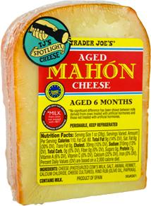Trader Joe's Aged Mahon Cheese