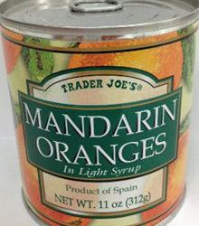 Trader Joe's Canned Mandarin Oranges
