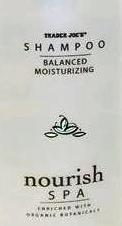 Trader Joe's Nourish Spa Shampoo