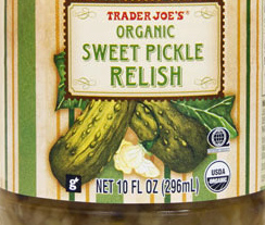 Trader Joe's Organic Sweet Pickle Relish