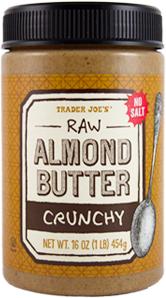 Trader Joe's Crunchy Raw Almond Butter