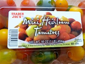 Trader Joe's Mini Heirloom Tomatoes