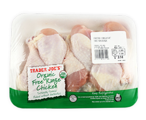 Trader Joe's Organic Free Range Chicken Drumsticks
