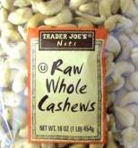 Trader Joe's Raw Whole Cashews