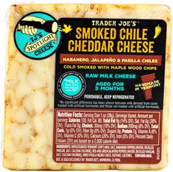 Trader Joe's Smoked Chile Cheddar Cheese