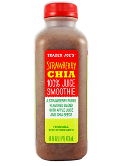 Trader Joe's Strawberry Chia 100% Juice Smoothie