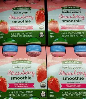 Trader Joe's Strawberry Low Fat Yogurt Smoothie