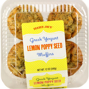 Trader Joe's Greek Yogurt Lemon Poppy Seed Muffins