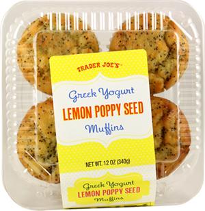 Trader Joe's Greek Yogurt Lemon Poppy Seed Muffins