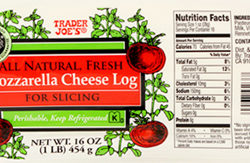 Trader Joe's Mozzarella Cheese Log