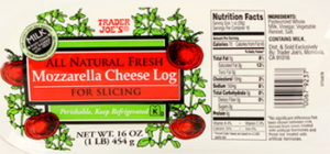 Trader Joe's Mozzarella Cheese Log