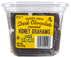 Trader Joe's Dark Chocolate Covered Honey Grams with Sea Salt