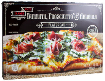 Trader Joe's Burrata, Prosciutto & Arugula Flatbread