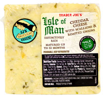 Trader Joe's Isle of Man Cheddar with Scallions & Roasted Onions