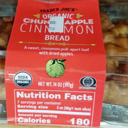 Trader Joe's Organic Chunky Apple Cinnamon Bread