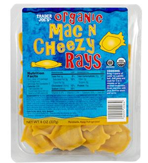 Trader Joe's Organic Mac N Cheezy Rays