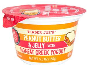 Trader Joe's Peanut Butter & Jelly with Nonfat Greek Yogurt