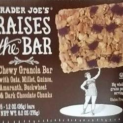 Trader Joe's Raises the Bar Dark Chocolate Granola Bar