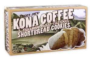 Trader Joe's Kona Coffee Half-Dipped Shortbread Cookies